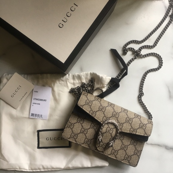 Gucci Handbags Dionysus Gg Supreme Super Mini Bag